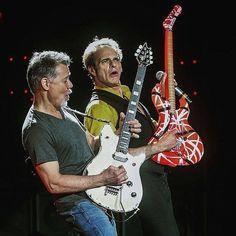 Ed Van Halen Then and Now Van Halen Van Hagar