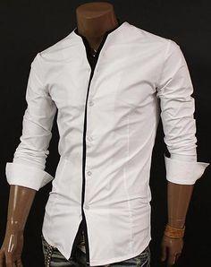Reversable Zero Collar Slim Dress Shirt from SLS Distributors