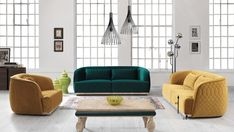Feasting your eyes on it? Take it home before someone else does! It's time to give your living room a summer-y update 🌞 with this chic sofa set Sofa Set, Floor Chair, Living Room Decor, Ottoman, Sweet Home, Cushions, House Design, Couch, Throw Pillows