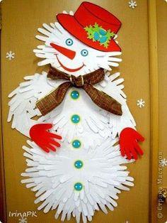 Játékos tanulás és kreativitás: Mikulás, hóember, fenyőfa, ajtódísz kézformából