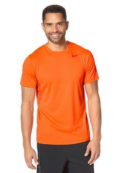 Produkttyp , T-Shirt, |Pflegehinweise , Maschinenwäsche, |Materialzusammensetzung , Obermaterial: 83% Polyester, 17% Lyocell. Rückseite: 100% Polyester, |Stil , Sportlich, |Optik , Unifarben, |Farbe , Orange, |Applikationen , Logodruck, |Ausschnitt , Rundhals, |Ärmelstil , Kurzarm, |Passform , Schmale Form, |Rückenlänge , In der Gr.M(48/50)ca.70cm, |Qualitätshinweise , Hautfreundlich Schadstoff...