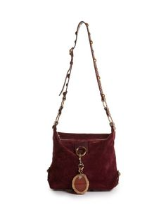 LANVIN Hobo Medium Suede Cross-Body Bag. #lanvin #bags #shoulder bags #stone #suede #hobo #