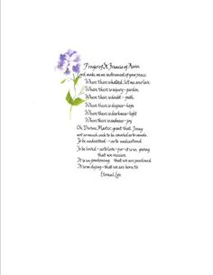 Christian Calligraphy Prayer of St Francis by CalligraphicArtisan, $14.00