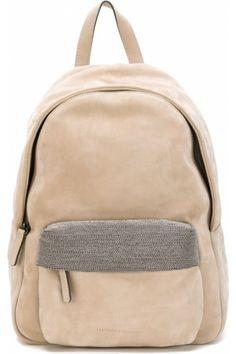Mochilas de mujer - Brunello Cucinelli Embellished Pocket Backpack