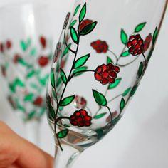Champagne Flutes Toasting Glasses Wedding Glasses  by witchcorner, $47.00