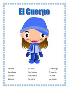 """#cybersmilesaleThis interactive unit contains four pages. It is a great tool to introduce students to body parts and to  a very important Spanish motto """"Cuerpo sano mente sana""""  Healthy Mind and Healthy body"""" The result of our double puzzle. .  It contains1."""