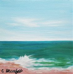 Beach painting Ocean painting Seascape painting Coastal decor Beach house decor Nature painting Under 100 dollars Free shipping US Seascape Paintings, Nature Paintings, Your Paintings, Original Paintings, Watercolor Cards, Watercolor Flowers, Beach House Decor, Coastal Decor, House Painting