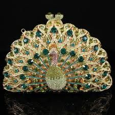 Peacock clutch., omg I've died and gone to vintage handbag heaven...what a beauty:-)