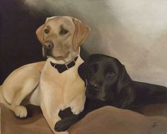 Rosie Holtby Original Artwork  www.rosieholtby.com Original Artwork, Labrador Retriever, Fine Art, The Originals, Dogs, Animals, Animales, Labrador Retrievers, Animaux
