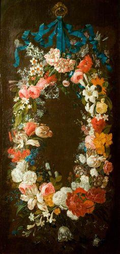 A Wreath of Flowers (Mid-18th century) * Daniel Seghers