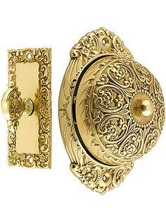 Floral Design Mechanical Door Bell In Solid Brass | House of Antique Hardware