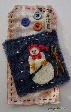 Scrap,quilt and stitch: Etiquettes de l'avent