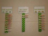 tattling to the teacher: organization Space Saver! Attach ribbon to tags for the kids' name pegs.your tags/signs can be smaller! Classroom Design, Kindergarten Classroom, School Classroom, School Fun, Classroom Decor, Middle School, High School, Future Classroom, Classroom Freebies
