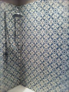 Encaustic Tiles for the Shower. Handmade crafted cement tiles.MOD-181.