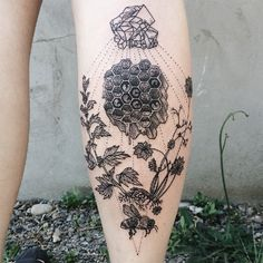 Vintage Etchings Tattoo of Flora and Fauna                                                                                                                                                                                 More