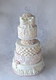 Romantic Wedding Cake By CakeInfatuation on CakeCentral.com