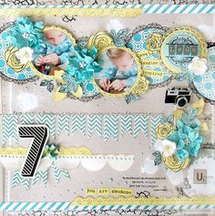 Layout: {LEGO} by Karola Witczak; banners, borders, layered, flowers, diecut, girly