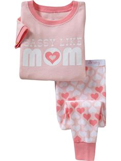 "Old Navy | ""Sassy Like Mom"" PJ Sets for Baby"