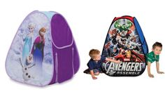 Today only, save up to 50% on indoor play tents for kids featuring their fave characters!!