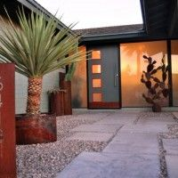 hardscape, entrance, and door <3