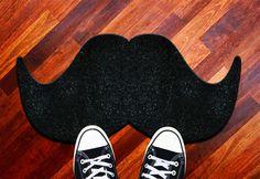 Mustard Novelty Door Mat - Black The Moustache for sale online Unique Gifts, Best Gifts, Shops, Deco Originale, Welcome Mats, Floor Mats, Decoration, Tech Accessories, Decorative Items