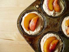 sweet miscellany: Cardamom Peach Muffins #vegan #wheat free
