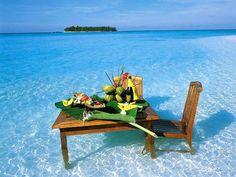 Breakfast in the Maldives