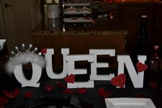 Queen of Hearts themed birthday party