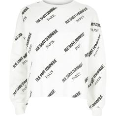 White 'Rue Saint Dominique' print sweatshirt