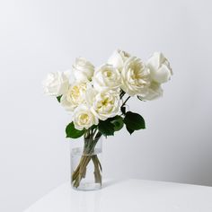 Fresh White Rose Bouquets | Roseur Fine Roses Sweet Salt is a classic reimagined. Choose from 12 or 24 modern roses, arranged by hand and placed in a Signature Gift Box. Your indulgent experience is completed with our Liquid Rose Food, Florography and Handwritten Gift Card. Color: Malt Ivory Florography: Time + Distance Your delivery of Sweet Salt includes: • FREE Next-Day Shipping • 100% Freshness Guarantee #RoseurFineRoses #Roseur #ArtfulLiving | Roseur.com