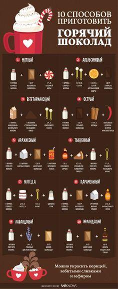 10способов приготовить вкусный горячий шоколад: