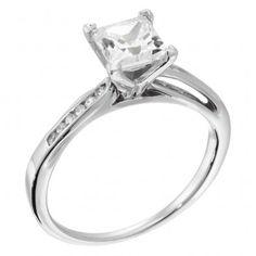 Favorite Square cut engagement ring & wedding band combo!! <3 | Diamond Nexus
