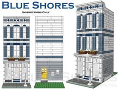 Blue Shores Custom Lego Modular Building Instructions Only   eBay