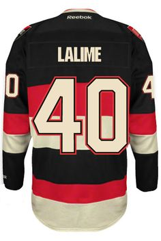 Ottawa Senators VINTAGE Patrick LALIME #40 Official Third Reebok Premier Replica NHL Hockey Jersey (HAND SEWN CUSTOMIZATION)