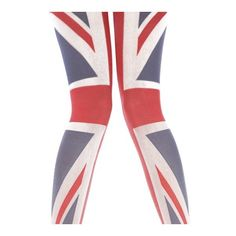 Henry Holland Union Jack Tights - Tights, Stockings, Shapewear and... ($5.95) ❤ liked on Polyvore