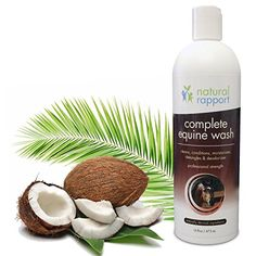 Natural Horse Shampoo - Complete 5-in-1 Natural Equine Shampoo and Conditioner - Cleans, Conditions, Deodorizes, Moisturizes & Detangles horse's coat, mane and tail - 16 fl oz - http://www.petsupplyliquidators.com/natural-horse-shampoo-complete-5-in-1-natural-equine-shampoo-and-conditioner-cleans-conditions-deodorizes-moisturizes-detangles-horses-coat-mane-and-tail-16-fl-oz/