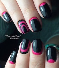 Accurate nails, Everyday nails, Half moon nails 2016, Nails ideas 2016, Nails trends 2016, Pink nail art, Reverse french by gel polish, Reverse French manicure