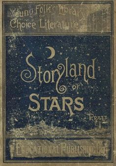 Design inspired by stars - vintage book cover .. stories and heavens