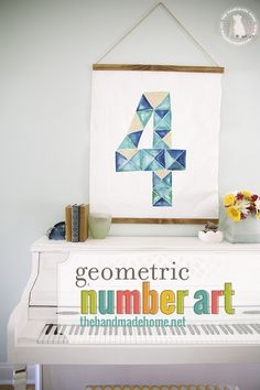 how we made this geometric number art for a space at a fraction of the cost.