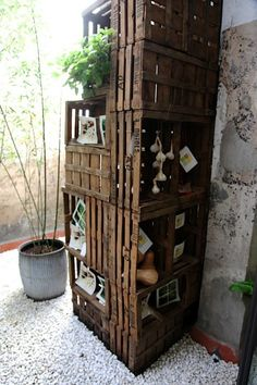 crate storage - Love this look!