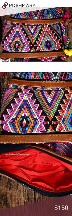 TRIBAL BAG Bohemian Embroidered Clutch Wristlet One Size. New with tags.    • Beautiful tribal inspired wristlet featuring ethnic embroidered patchwork detailing throughout & tassel accent on zipper.  • Full zip closure.  • Leather detailing at top & wrist strap.  • Hand-made.  • Inside is fully lined.  • Note: this listing is for the bag shown in photo(s) 1, 2 and 3.     {Southern Girl Fashion - Closet Policy}   ✔Bundle discount: 20% off 2+ items.   ✔️ Reasonable offers are considered when…