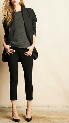 Classic black outfit for day out or dress it up with a stylish hill for night out.