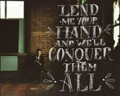 ...but lend me your heart, and I'll just let you fall.   Trust God with your all, not man