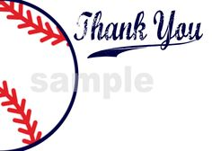 Baseball Baby Shower Thank You Cards (Digital Printable File). $7.00, via Etsy.