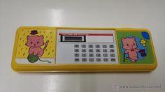 ESTUCHE ESCOLAR - AÑOS 80 / 90 - NUEVO - con calculadora