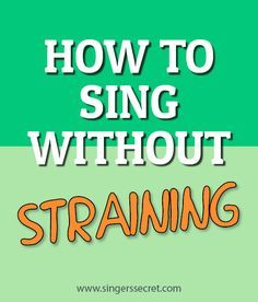Exercises to help you sing without straining and relieve vocal tension. http://singerssecret.com/how-to-sing-without-straining/ #singing #singingtips