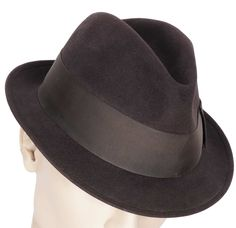 Vintage 1950s Stetson Twenty Fedora Hat Trilby Style Size Large 7 3 8 Trilby  Hat e6b3d43891fe