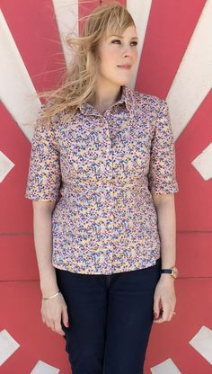 's Rosa Shirt - Sewing pattern by Tilly and the Buttons Shirt Dress Pattern, Tilly And The Buttons, Sewing Patterns, Happy, How To Make, Shirts, Dresses, Women, Fashion