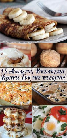 15 Amazing Breakfast Recipes for the Weekend – We tested every recipe and they are all FABULOUS! Recipe 15 Amazing Breakfast Recipes for the Weekend – We… Breakfast And Brunch, Breakfast Dishes, Best Breakfast, Breakfast Recipes, Breakfast Ideas, Bacon Breakfast, Protein Breakfast, Breakfast Casserole, Patisserie Sans Gluten