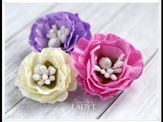 Foamiran Tea Roses Video Tutorial - YouTube